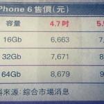 iPhone 6価格表
